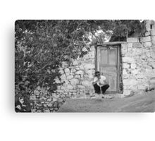 Blind Man and His House Canvas Print