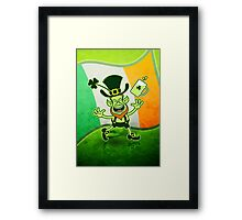 Euphoric Leprechaun Celebrating St Patrick's Day Framed Print