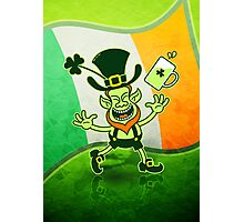 Euphoric Leprechaun Celebrating St Patrick's Day Photographic Print