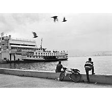 Ferryboat in Karsiyaka Port in Izmir, Turkey Photographic Print