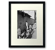 Kadifekale Neighborhood in Izmir Turkey Framed Print