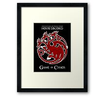 House Discord - Game of Chaos Framed Print