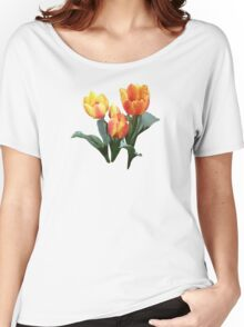 Orange and Yellow Tulips Women's Relaxed Fit T-Shirt
