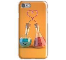 cute chemistry - flasks in love iPhone Case/Skin
