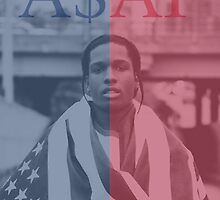 A$AP Rocky - Red & Blue by Banana Ocean