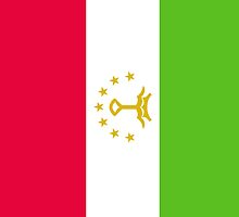 Tajikistan Flag by pjwuebker
