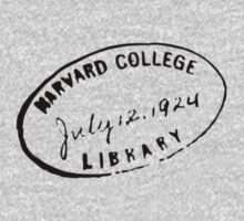 Label Harvard College by Vana Shipton