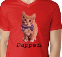 Dapper Cat Mens V-Neck T-Shirt