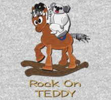 Rock on Teddy T-shirt Kids Clothes