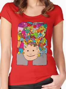 All in my head - cool variations of freams Women's Fitted Scoop T-Shirt