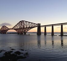 The Rail bridge South Queensferry, Scotland by LBMcNicoll