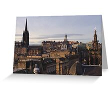 Edinburgh Skyline. With company.  Greeting Card