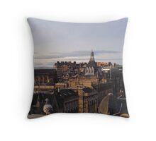 Edinburgh Skyline. With company.  Throw Pillow