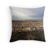 Edinburgh Castle Viewpoint.  Princes Street Gardens.   Throw Pillow