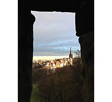 Edinburgh Castle viewpoint. Ramsay Gardens.  Photographic Print