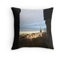 Edinburgh Castle viewpoint. Ramsay Gardens.  Throw Pillow