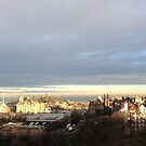 Edinburgh Castle viewpoint. Ramsay Gardens and the East End.  by LBMcNicoll