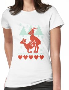 Christmas Deer Womens Fitted T-Shirt