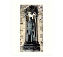King Robert the Bruce Statue: Gates to Edinburgh castle Art Print