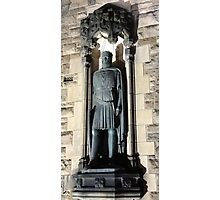 King Robert the Bruce Statue: Gates to Edinburgh castle Photographic Print