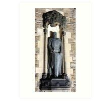 William Wallace Statue: Gates to Edinburgh castle Art Print
