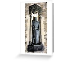 William Wallace Statue: Gates to Edinburgh castle Greeting Card