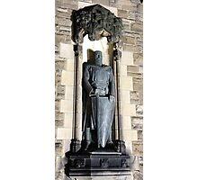 William Wallace Statue: Gates to Edinburgh castle Photographic Print