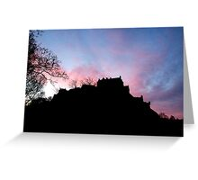 Sunrise over Edinburgh Castle.  Greeting Card