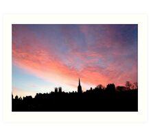 Sunrise over the Royal Mile,  Edinburgh.  Art Print