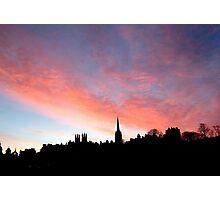 Sunrise over the Royal Mile,  Edinburgh.  Photographic Print