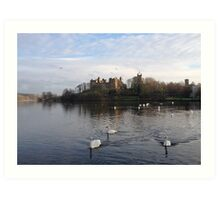 Linlithgow Palace and Linlithgow Loch. Scotland. Art Print