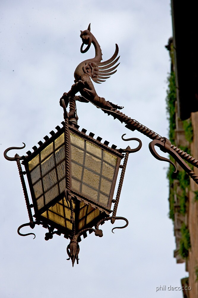 Rusty Dragon Lamp by phil decocco