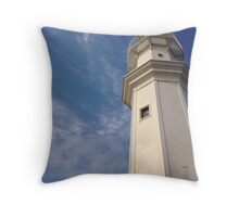 Newhaven Harbour lighthouse, Edinburgh, Scotland.  Throw Pillow