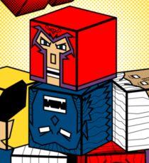 X-Blocks Logo Sticker