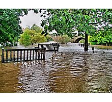 Floods Wetherby West Yorkshire - HDR Photographic Print