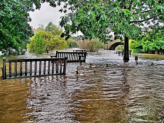 Floods Wetherby West Yorkshire - HDR by Colin  Williams Photography