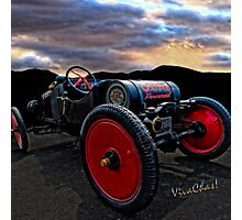 Ford Model T Racer Beat the Storm Home but would U drive it a hundred? ~:0) VivaChas! Photographic Print