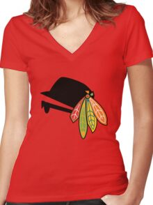 Blues Brothers of the Four Feathers Women's Fitted V-Neck T-Shirt