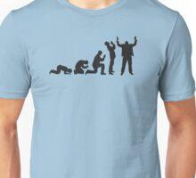 Evolution of praying Unisex T-Shirt