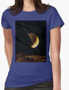SATURN, Antique astronomy illustration, space, planet Womens Fitted T-Shirt