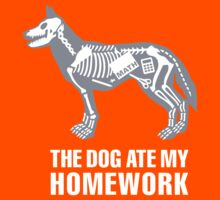 The dog ate my homework Kids Clothes