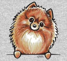 Red Pomeranian Paws Up One Piece - Long Sleeve
