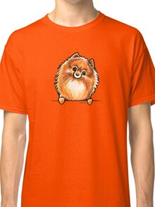 Red Pomeranian Paws Up Classic T-Shirt