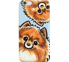 Red Pomeranian Paws Up iPhone Case/Skin