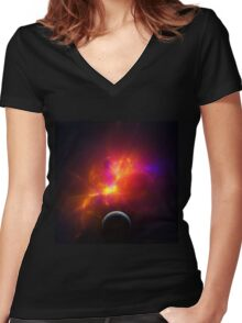 Alar: The Elusive Women's Fitted V-Neck T-Shirt