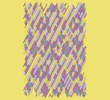 Geometric Lanes (Glam Pink/Yellow/Teal) Baby Tee