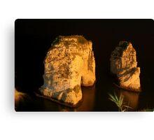 Night Shot - 02 - Beirut - Raouche Canvas Print