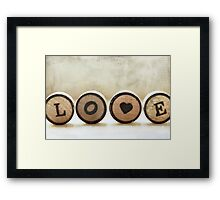 word of the day: LOVE Framed Print