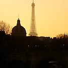 Paris sunset Eiffel Tower by graceloves