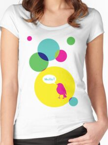 Hello! Women's Fitted Scoop T-Shirt